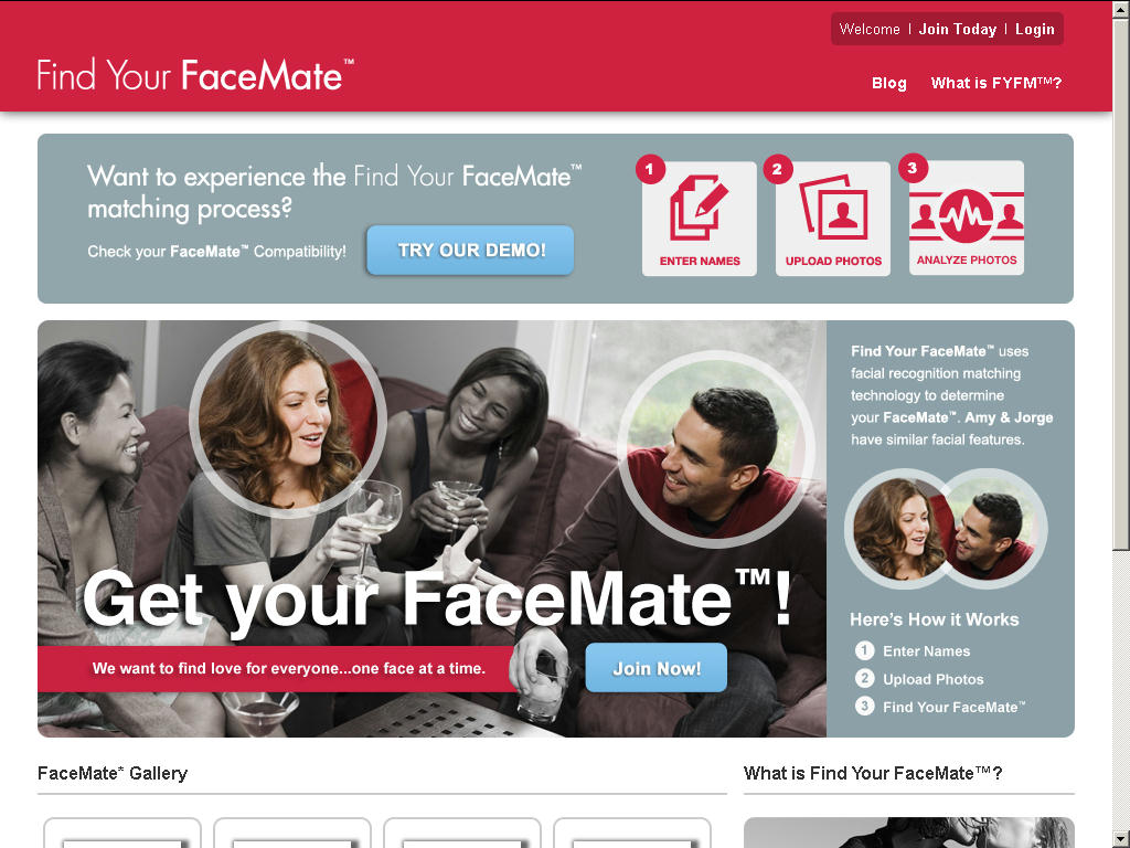 Find Your FaceMate Homepage 2
