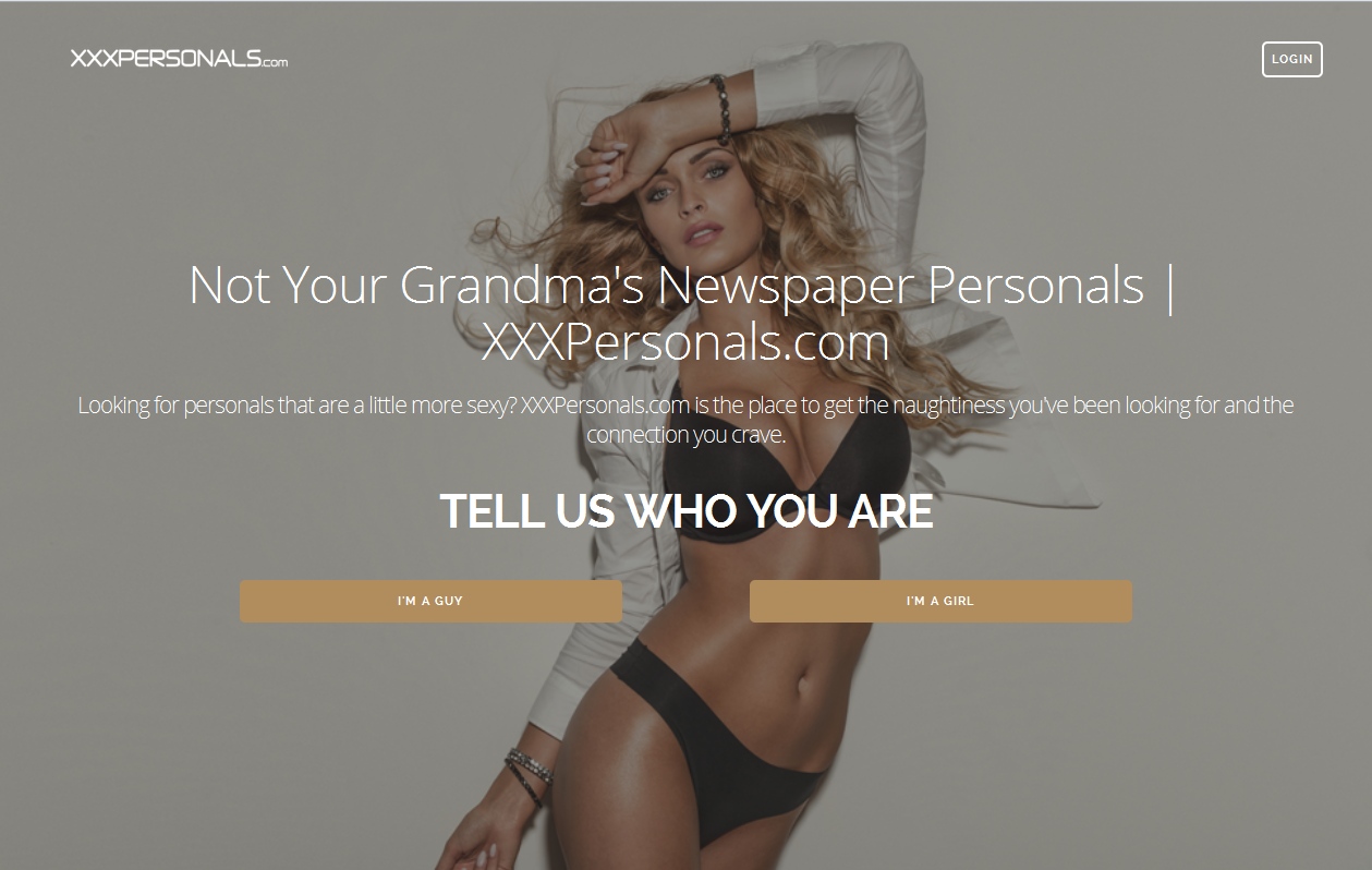 XXXPersonals Homepage1